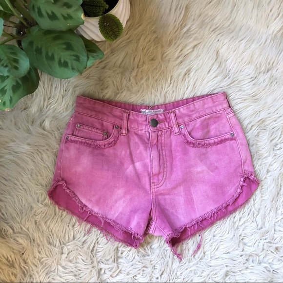Free People Pants - Free People Pink High Rise Denim Shorts